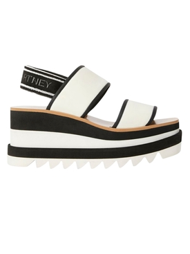 Stella Mccartney - Black & White Elyse Sandal - Women