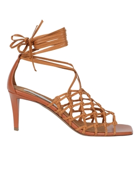 Stella Mccartney - Caramel Woven Fiace Sandals - Women