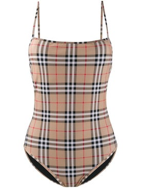 Burberry - Check Print One-piece Swimsuit - Women