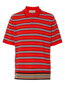 Burberry - Red Icon Stripe Polo Shirt - Men