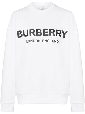 Burberry - Logo Crew Neck Sweatshirt, White - Women