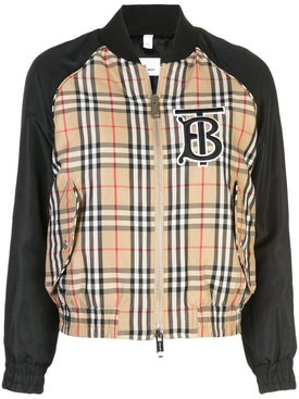 Burberry - Check Bomber Jacket - Women