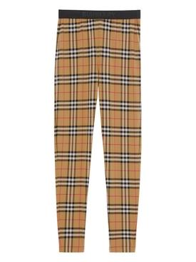 classic check print leggings