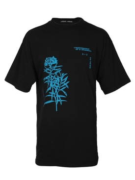 Black flower graphic t-shirt