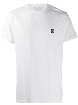 White TB Embroidered logo t-shirt
