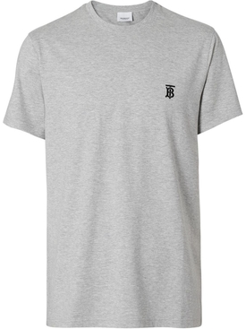Grey TB Embroidered logo t-shirt
