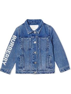 Kids logo print denim jacket