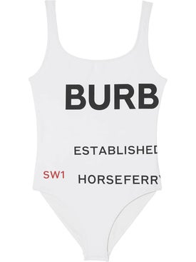 Burberry - Horseferry Print Swimsuit White - Women