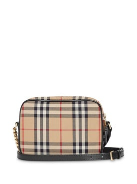 Burberry - Vintage Check Cotton Camera Bag Neutral - Crossbody