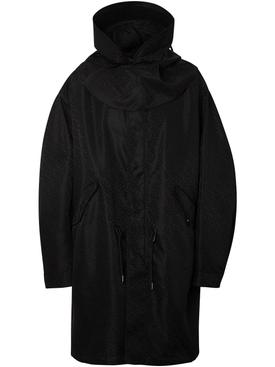 Logo hooded parka black