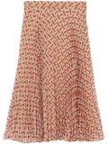 Burberry - Monogram Print Chiffon Pleated Skirt - Women