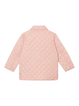 Kids Light Pink Quilted Jacket
