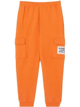 Burberry - Orange Logo Patch Track Pants - Men