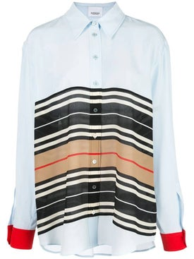 Burberry - Icon Stripe Oversized Shirt - Long Sleeved