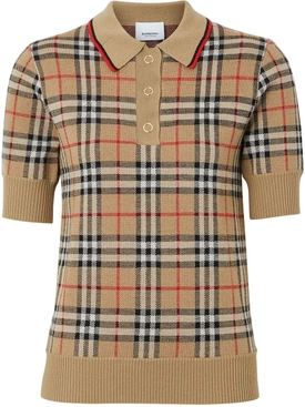 Icon Check Wool Polo Shirt