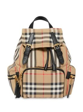 Burberry - The Small Rucksack In Vintage Check And Icon Stripe - Women