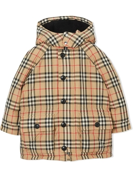 kids check padded jacket MULTICOLOR