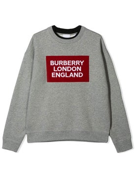 Burberry - Kids Grey Logo Sweatshirt - Kids