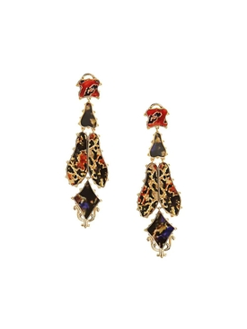 Burberry - Multicolored Drop Earrings - Women