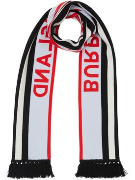 Burberry - Logo And Icon Stripe Cashmere Jacquard Scarf - Women
