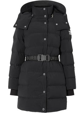 Burberry - Black Belted Puffer Jacket - Down Jackets