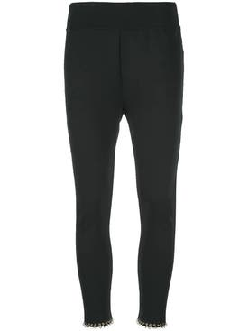 Burberry - Black Ring-pierced Ankle Leggings - Women