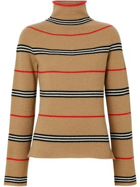 Icon Stripe Cashmere Turtleneck Sweater