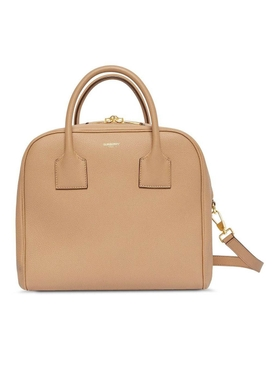 Burberry - Beige Leather Cube Bag - Women