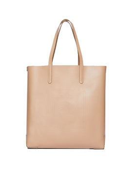 Burberry - Neutral Logo Embossed Tote - Women