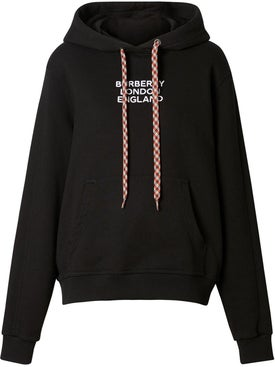 Burberry - Embroidered Logo Drawstring Hoodie - Women