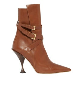 Burberry - Brown Leather Ankle Boots - Women