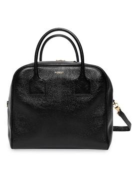 Medium Lambskin Cube Bag black