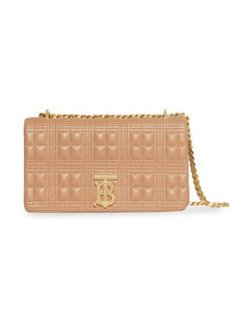Burberry - Beige Quilted Lola Bag - Women