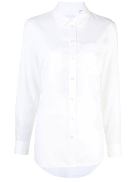 white monogram jacquard shirt