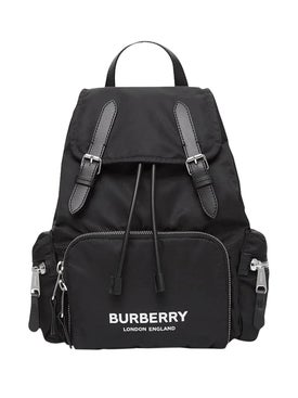 Burberry - Black Logo Backpack - Women