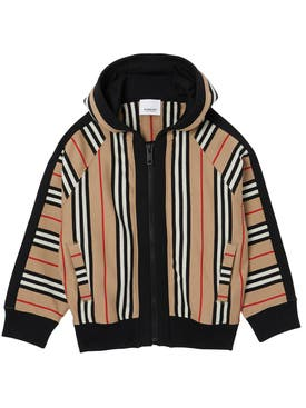 Burberry - Kids Icon Stripe Hooded Jacket - Kids