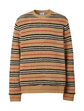 Icon Stripe Fleece Sweatshirt