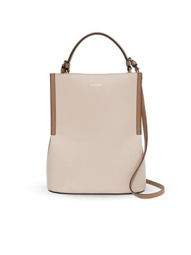 Burberry - Buttermilk Leather Bucket Bag - Women