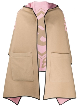 Burberry - Reversible Beige And Light Pink Poncho - Women