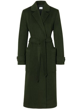 Burberry - Forest Green Belted Coat - Women