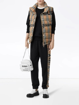 Horseferry check print puffer vest