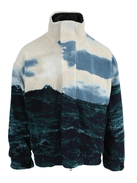 Sea Landscape Print Fleece Jacket