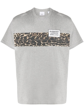 Grey Leopard Print T-Shirt