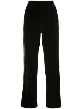 Black side stripe track pants