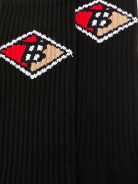 TB monogram print socks