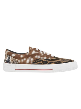 Mixed animal print sneakers