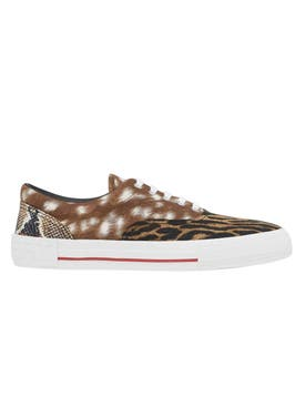 Burberry - Mixed Animal Print Sneakers - Men