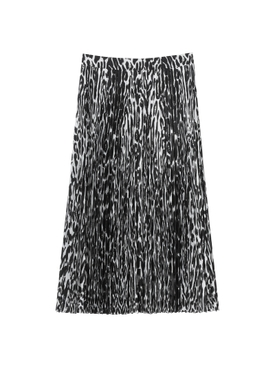 Burberry - Black And White Pleated Skirt - Women