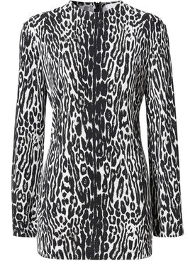Burberry - Black And White Leopard Print Top - Women