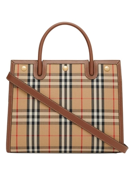 Mini Two-handle Title Bag, Vintage Check
